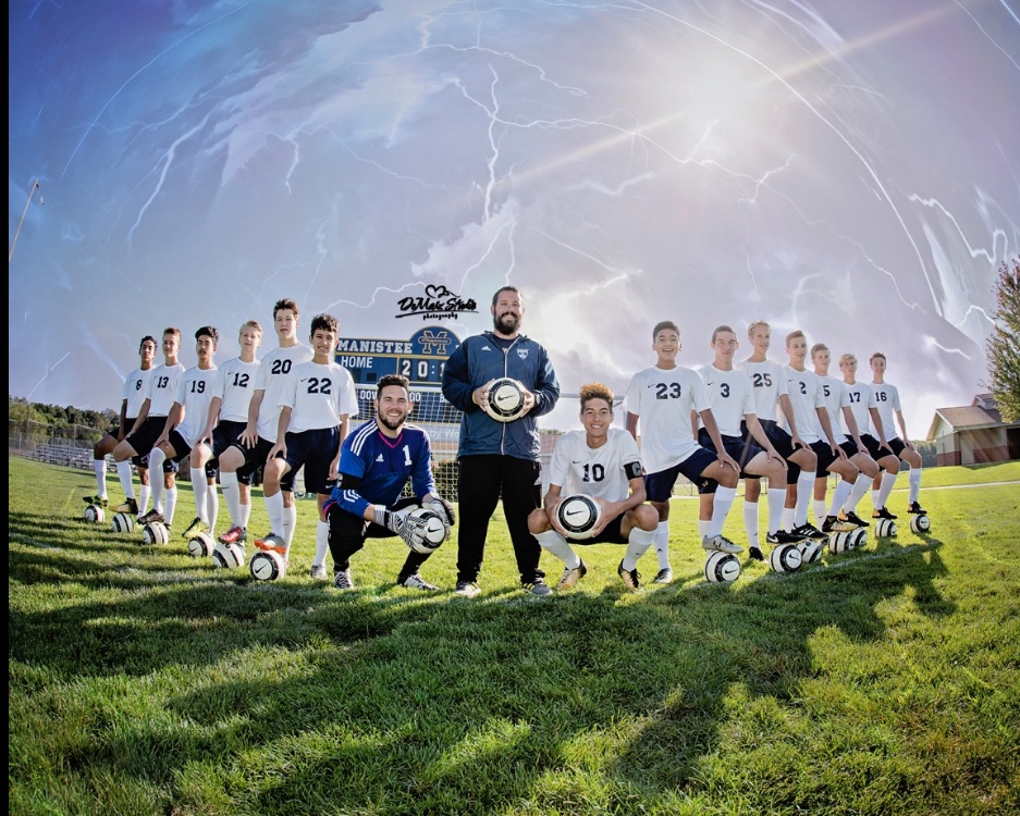 Manistee Chippewas Boys Soccer Team Photo on field