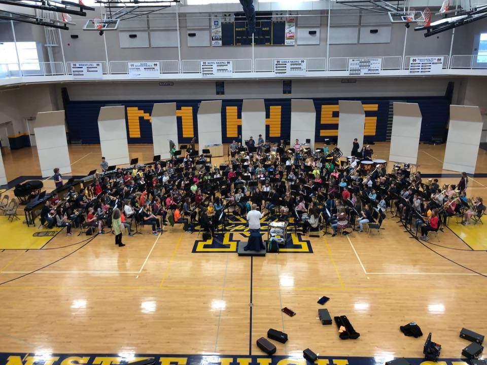 Manistee band performance in MMHS gym