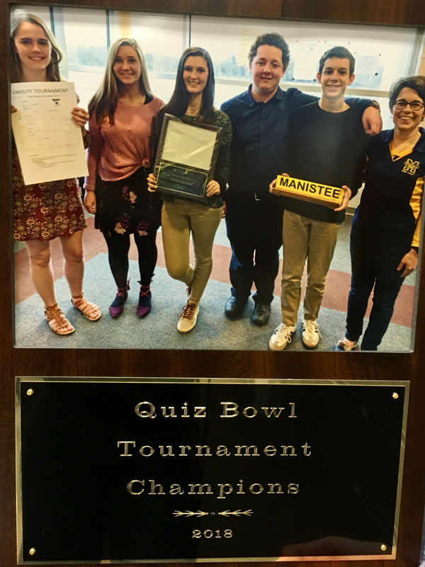 Quiz Bowl Tournament Champions with awards