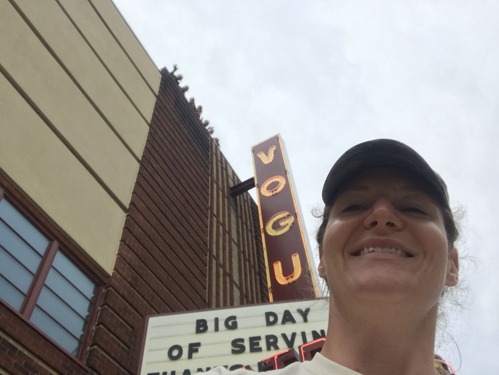 Amamda Clemons at the Vogue Theater on the Big Day of Service