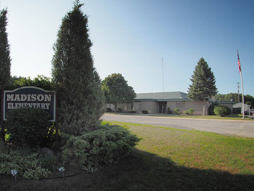 madison elementary building photo of front entry sign