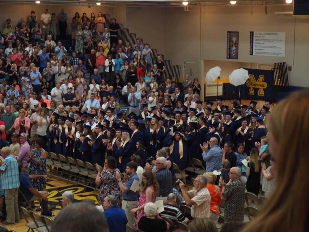 auditorium filled with people during graduation