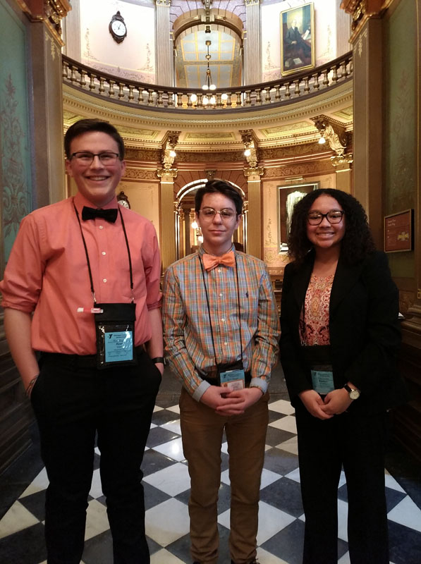 YIG Student at state capitol