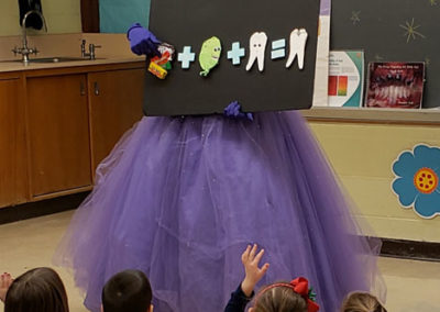 Tooth Fairy reading with students