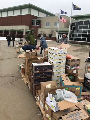 Food donated by the Little River Casino Resort