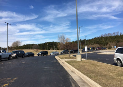 Cars lined up for food service