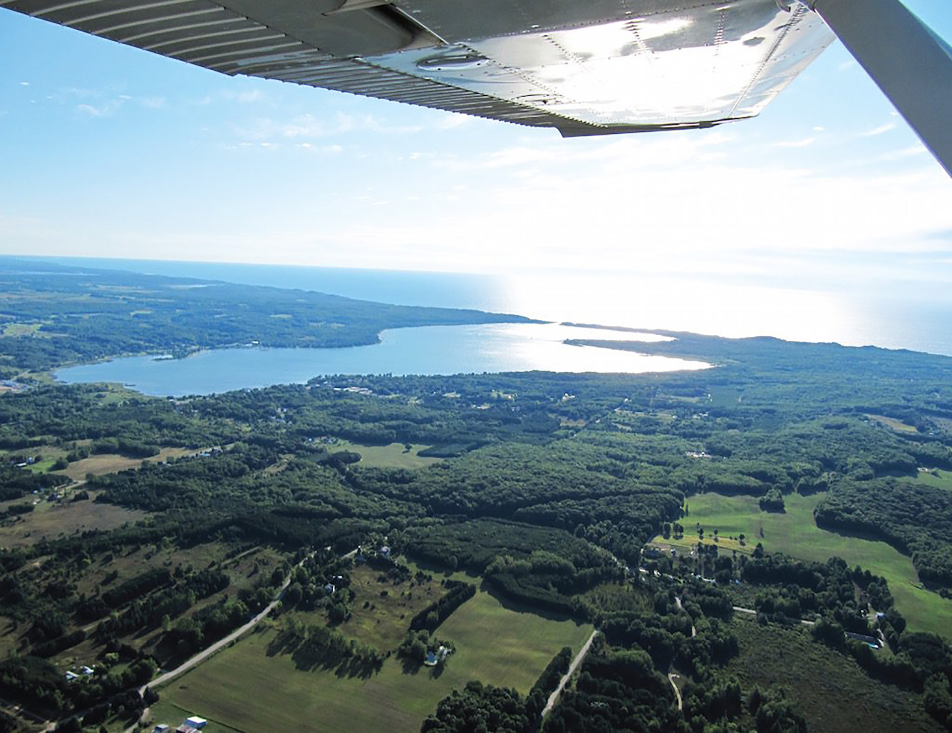 Aerial over manistee